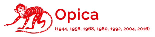 Opica - (1944, 1956, 1968, 1980, 1992, 2004, 2016)